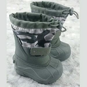 Columbia Toddler Boots Size 5 Gray Camo